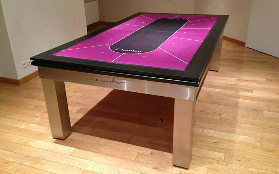 pool table convertible into poker table - Lambert