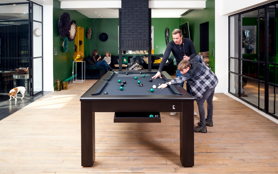 Basic billiard - Le CL - Pool table black - Toulet
