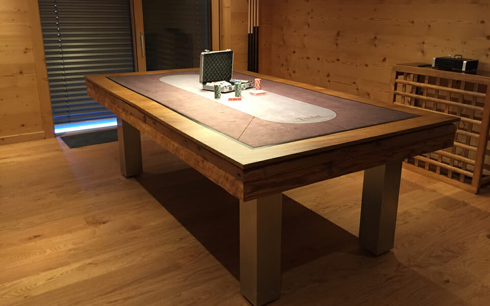 Design pool table with poker table - Billiards Toulet