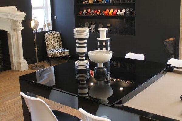 Decorative touch around his billiard table.