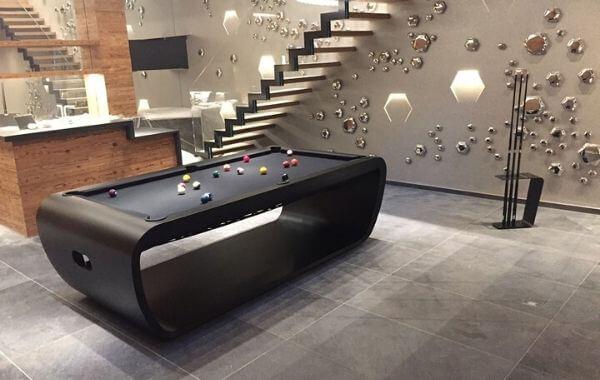 Pool table Blacklight english american design Billards Toulet 240