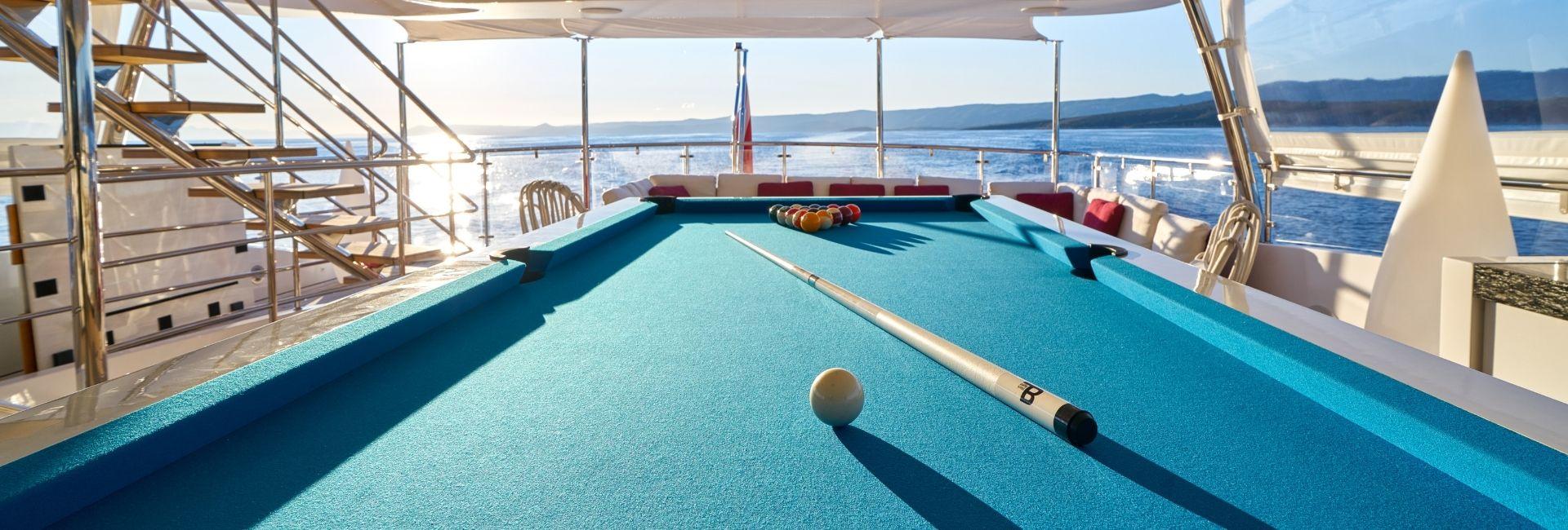 Pool table on boat luxury - Billards Toulet