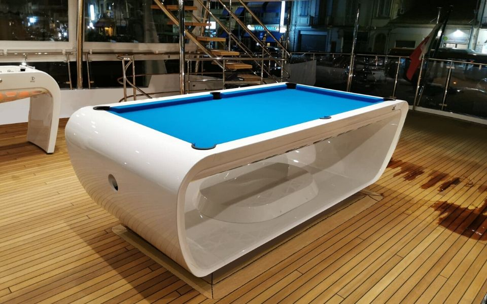 Pool table on boat - Luxury yacht