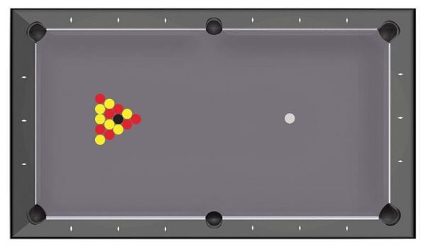 Rules for blackball - Pool table Toulet