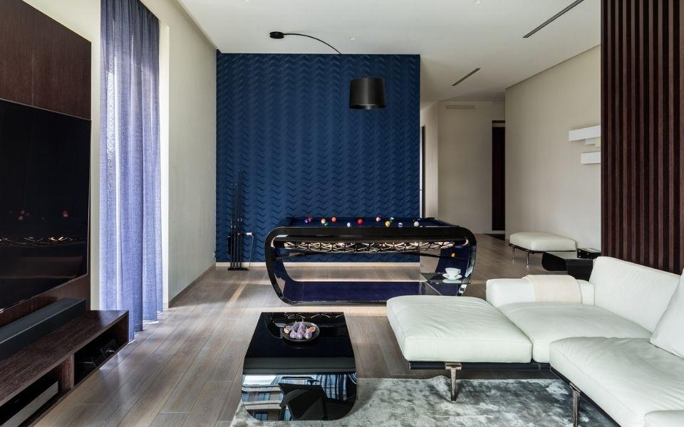 Pool table Blacklight design - Russian Salon Interiors - Billards Toulet