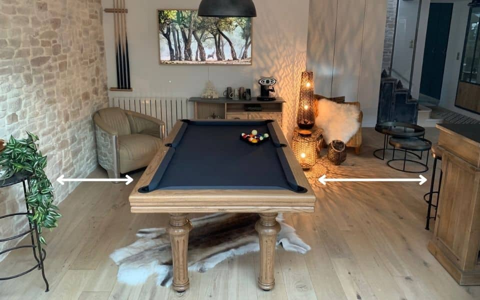 What place do you need to install a pool table ?