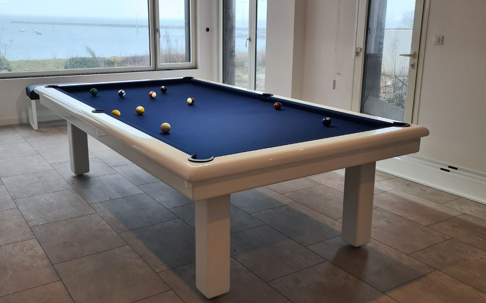 American pool table Modern white- Roundy