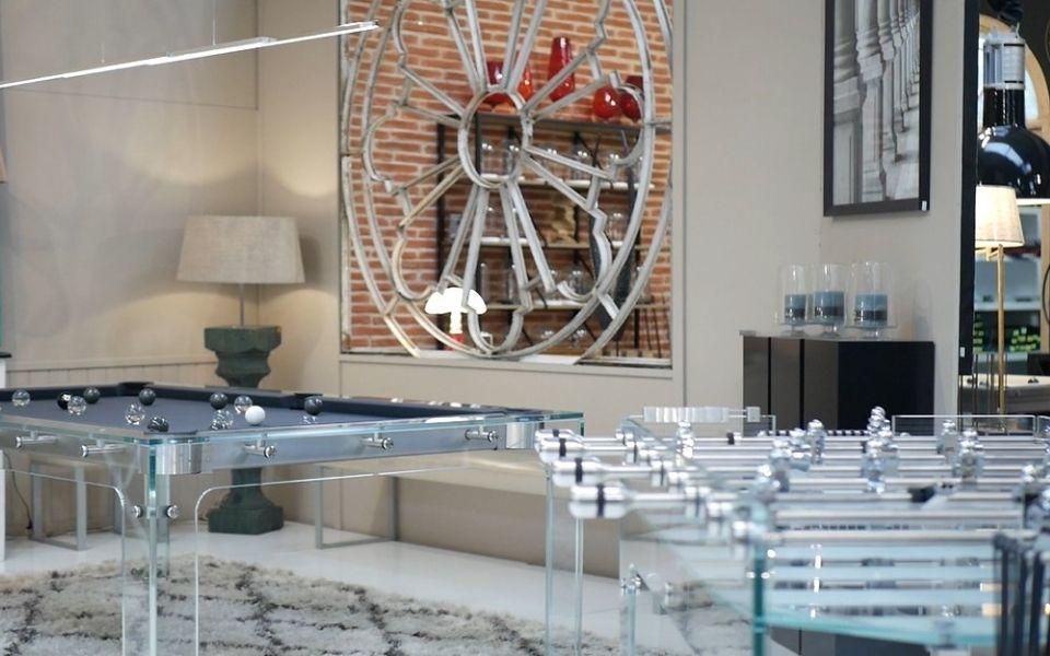 Custom-made games room design billiards - Billards Toulet