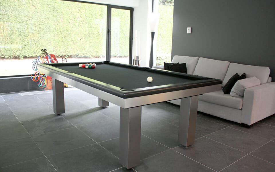Design billiard table Full Loft - Stainless Steel - Toulet