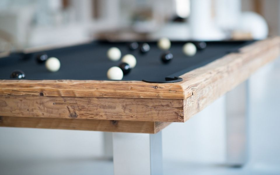 Design Pool table in wood - Megeve - Billiards Toulet