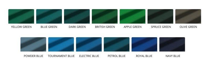 Range of trendy blue green billiard cloth -Toulet